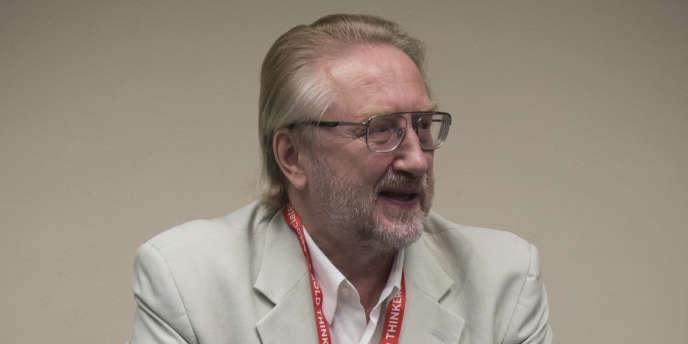 Vadim Pokrovsky, directeur du Centre fédéral russe de lutte contre le sida, lors de la conférence mondiale sur le sida à Durban, en Afrique du Sud, le 19juillet.