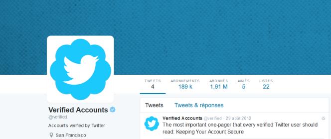Le badge bleu de certification était jusqu'ici réservé à environ 187 000 des310millions de twittos mensuels.