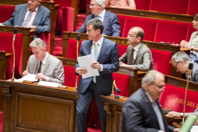 Manuel Valls à l'Assemblée nationale,mardi 19 juillet.
