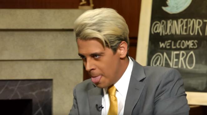 Milo Yiannopoulos, sur le plateau du talk show libertarien «The Rubin Report».