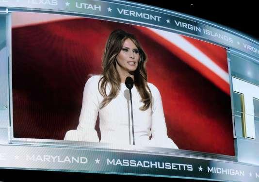 Melania Trump lors de la convention républicaine du 18 juillet 2016.