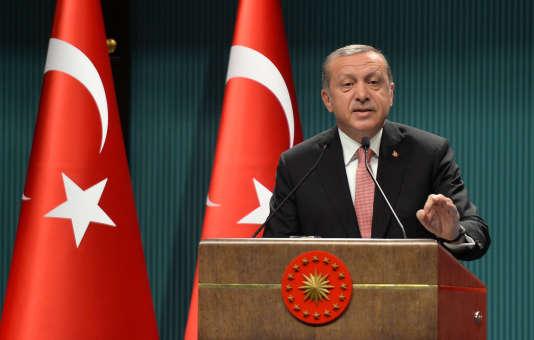 Recep Tayyip Erdogan le 20 juillet à Ankara, Turquie.