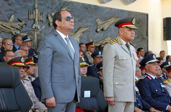 Le président égyptien Abdel Fattah Al-Sissi, le 20 juillet au Caire en Egypte.