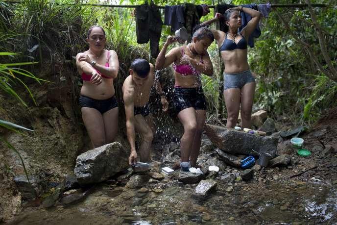 Dans un camp des FARC dans le département d'Antioquia, dans le nord-ouest de la Colombie, le 4 janvier.