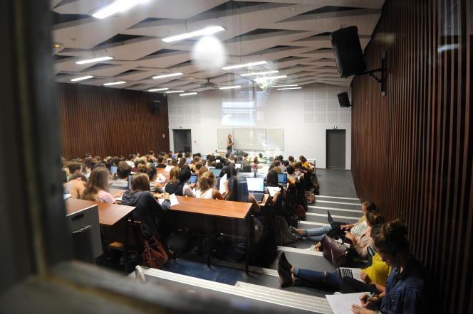 Cours de psychologie à l'Université Paul-Valéry, à Montpellier, en 2015.