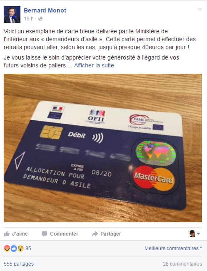 carte bancaire pour demandeur d asile Intox autour d'une carte bancaire destinée aux migrants
