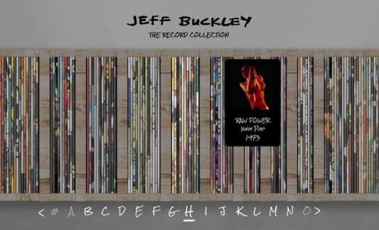 Capture d'écran du siteJeffBuckleyCollection.com.