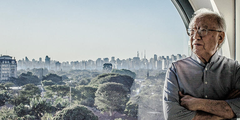 SAO PAOLO, BRAZIL - JULY 12, 2016: Architect Ruy Ohtake at Unique Hotel in Sao Paolo.  Kim Badawi for LE M Magazine.
