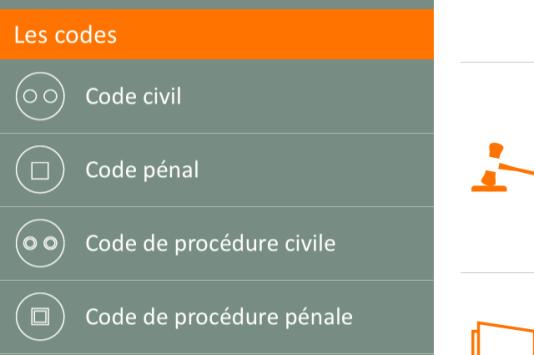 Capture d'écran Mon code juridique