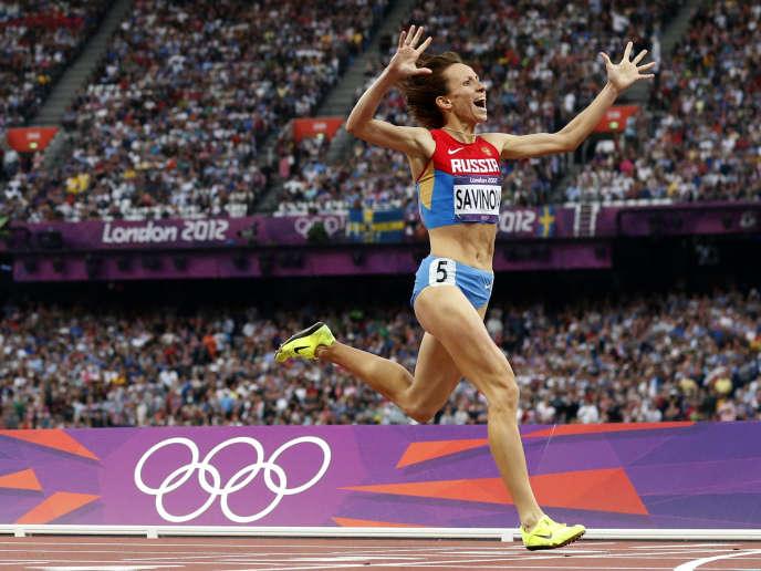 La championne olympique 2012 du 800m, Mariya Savinova.
