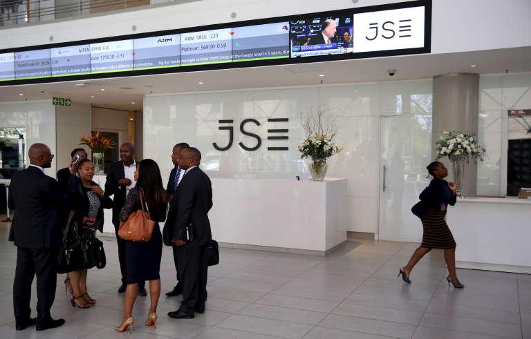 A la Bourse de Johannesburg, en mars.