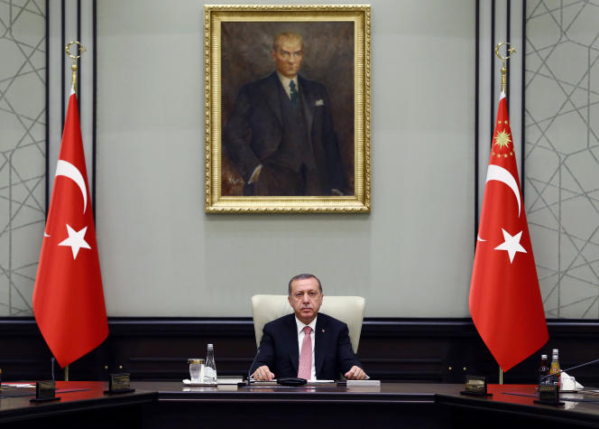 Le président turc, Recep Tayyip Erdogan, à Ankara, jeudi 21 juillet.