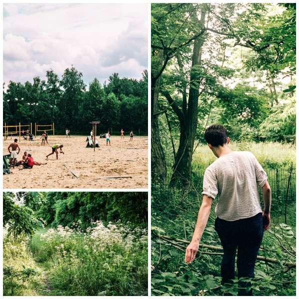Beach-volley ou balade dans les sous-bois ? Dans le parc de Gleisdreieck, les Berlinois ont l'embarras du choix.
