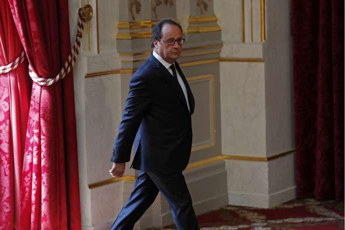 François Hollande, à l'Elysée, le 22juillet.
