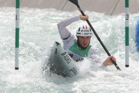 Sébastien Combot a pu se familiariser avec le bassin de Rio lors du Test Event, en novembre 2015, où il a fini troisième.