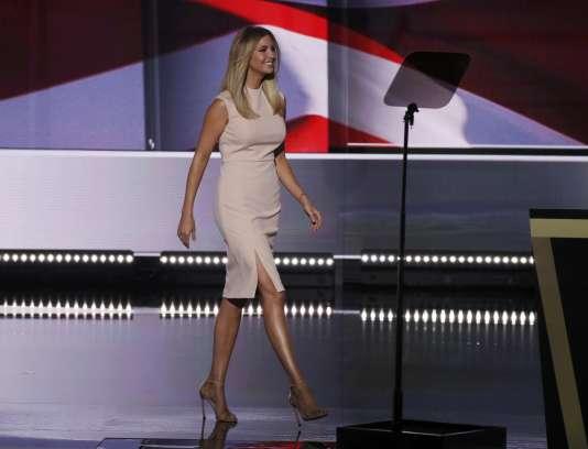 Ivanka Trump venuefaire la promotion de son père lors de la convention nationale républicaine, le 21 juillet