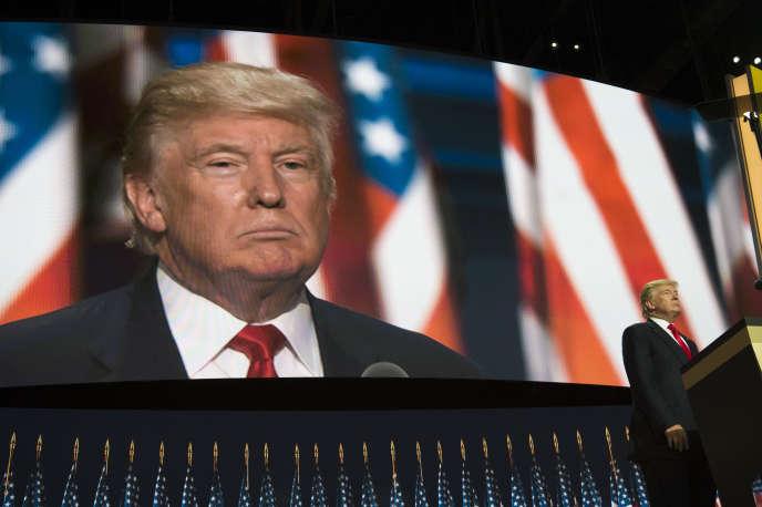 Donald Trump à la convention républicaine, le 21 juillet à Cleveland.