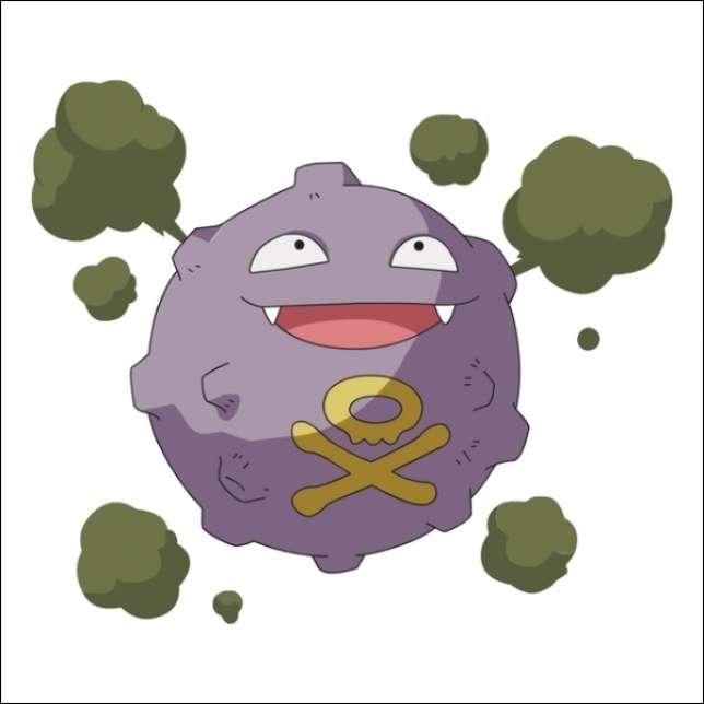 Smogo, le Pokémon à gaz odorants, apparaît dans les villes polluées.