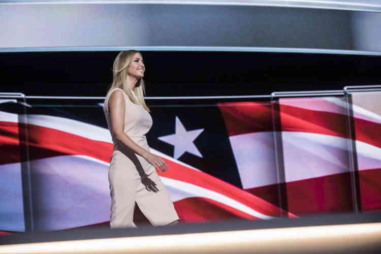 Elle a été la dernière, mais pas la moins remarquée. Ivanka Trump a été la quatrième des enfants du magnat de l'immobilier à s'exprimer devant les délégués républicains, à Cleveland, le 21 juillet.