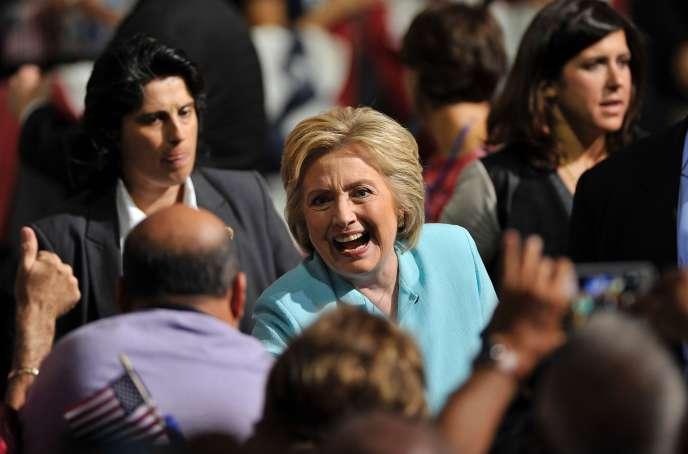 Hillary Clinton, à Miami en Floride, le 23 juillet.