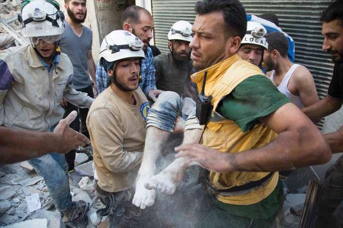Des bombardements de l'armée d'Assadont frappé Alep samedi 23 juillet.