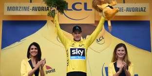 Le Britannique Christopher Froome en jaune après la 20e étape du Tour de France 2016, le 23 juillet.