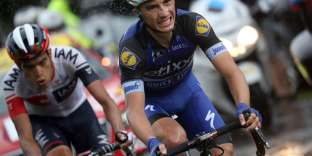 Julian Alaphilippe (ici aupremier plan, pendant le Tour de France 2016) disputera ces championnats du monde 2017 en tant que leader de la sélection française.