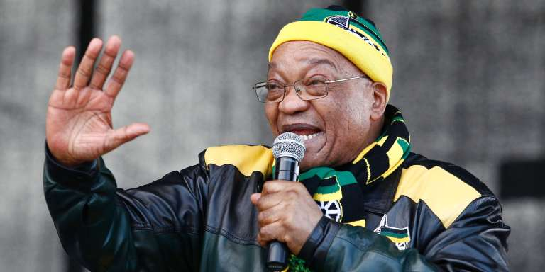 Jacob Zuma, lors d'un rassemblement politique, le 23juillet.