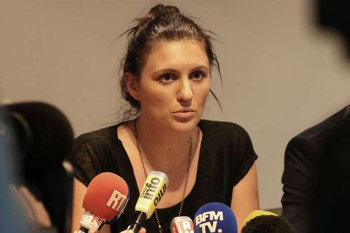 Sandra Bertin, le 24 juillet, à Nice.