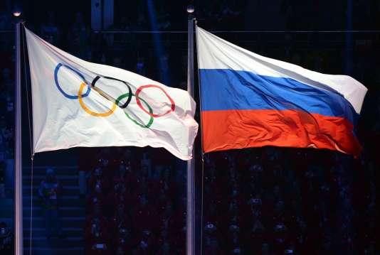Lors de la cérémomnie de clôture des Jeux olympiques de Sotchi, en 2014.