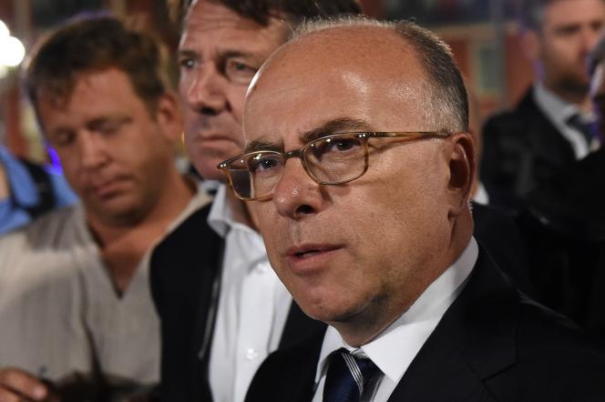 Bernard Cazeneuve et Christian Estrosi, le 15 juillet, à Nice.