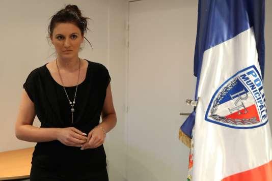 Sandra Bertin, après une conférence de presse à Nice, dimanche 24 juillet.