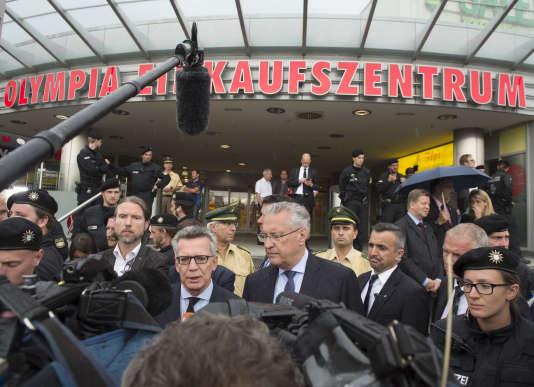 Thomas de Maiziere, le ministre de l'intérieur allemand, le 23 juillet à Munich.