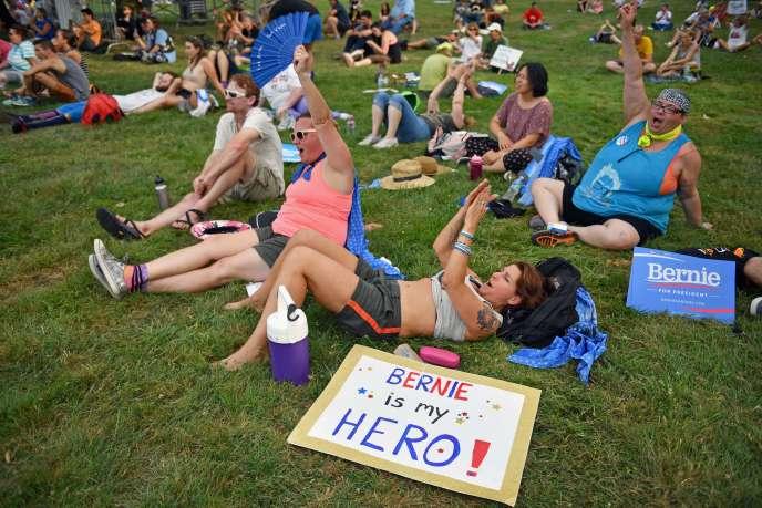 Des activistes pro Bernie, le 24 juillet à Philadelphie.