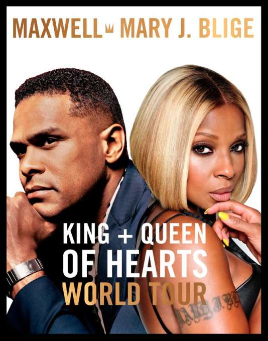 Affiche du King + Queen of Hearts World Tour de Maxwell et Mary J. Blige.