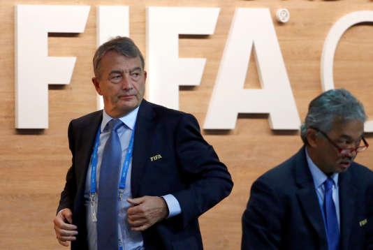 Wolfgang Niersbach durant le congrès extraordinaire de la FIFA à Zurich le 26 février.