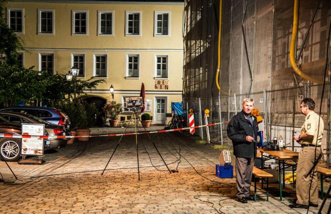 Un homme a déclenché ses explosifs à l'entrée d'un festival de musique à Ansbach, le 25 juillet. Sdmg/Friebe/AP