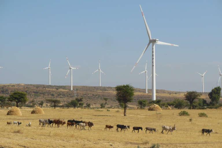 En Ethiopie, un parc d'éoliennes construit par une société chinoise.