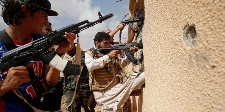 Les forces gouvernementales pendant la bataille de Syrte, en juillet 2016.
