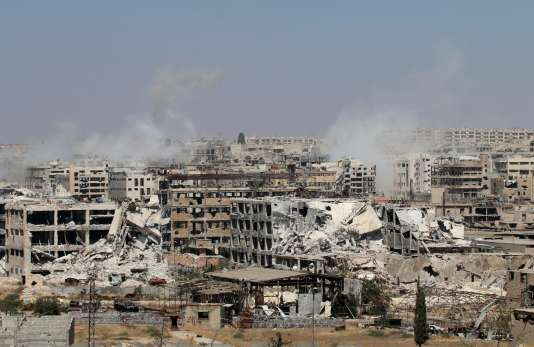 Opérations de l'armée syrienne pour reprendre le contrôle de l'est d'Alep, le 26juillet.