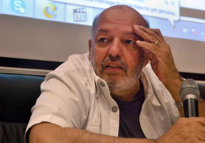 Le cinéaste égyptien Mohammed Khan lors du festival du film d'Alexandrie, en octobre 2013.