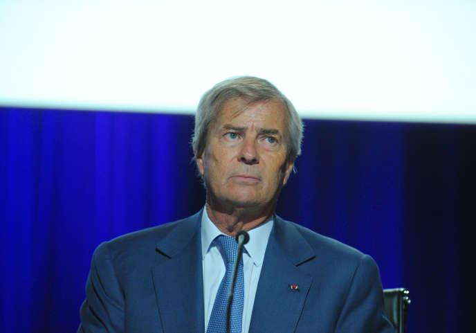 Vincent Bolloré, président du conseil de surveillance du groupe Vivendi, en avril 2015.