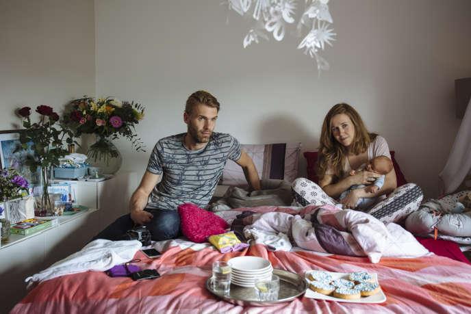« A la maison, tout est si paisible, tranquille, sans distraction», raconte Mark, après la naissance de son fils Tristan dans la chambre conjugale.