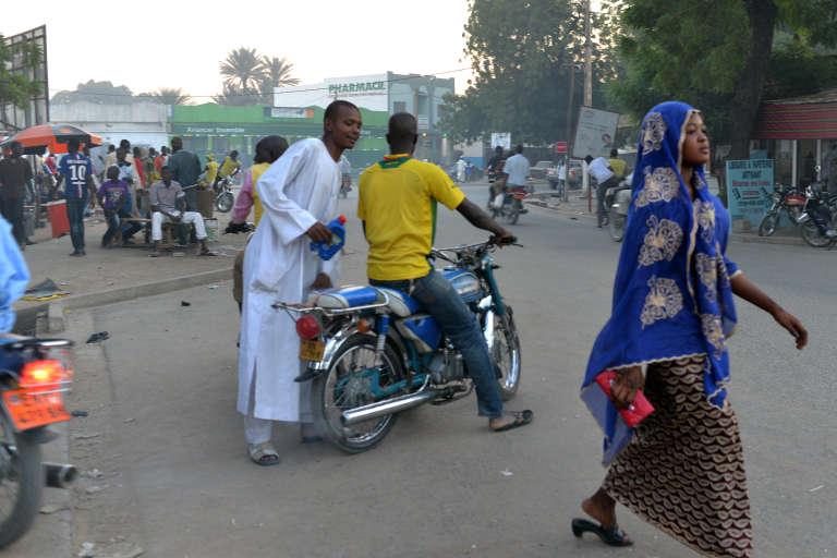 En centre-ville de Maroua, grande ville du nord du Cameroun.