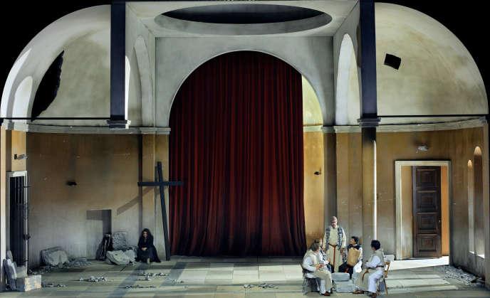 «Parsifal», de Wagner, sur une mise en scène d'Uwe Eric Laufenberg, au festival de Bayreuth