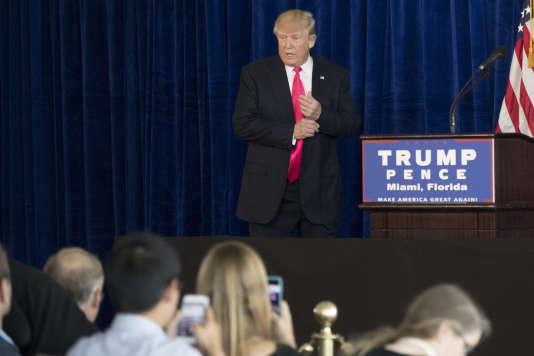Le candidat républicain à la présidentielle américaine, Donald Trump, mercredi 27 juillet à Tampa (Floride)