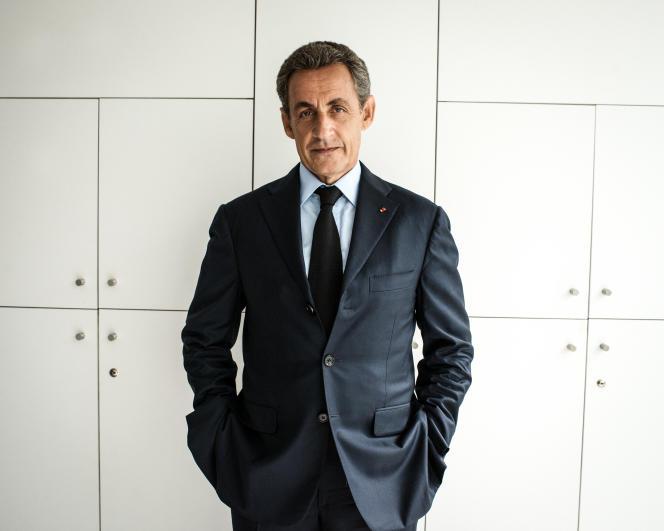 Nicolas Sarkozy, ancien président de la République française, au siège du parti Les Républicains.