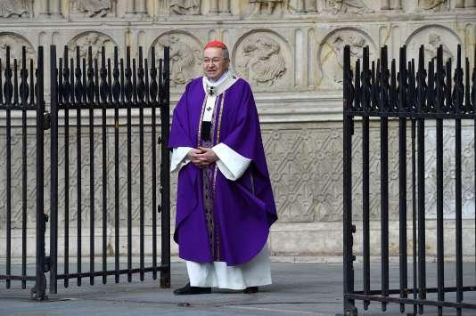 Le cardinal André Vingt-Trois a rendu hommage,le 27 juillet à Notre-Dame de Paris,au prêtre tué le 26juilletà Saint-Etienne-du-Rouvray.