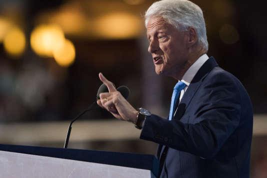 L'ancien président Bill Clinton à la Convention démocrate, le 26 juillet.