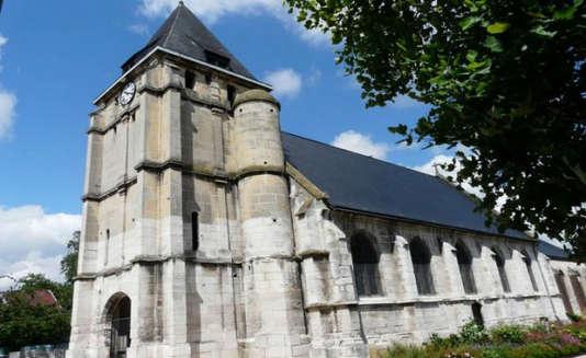 L'église de Saint-Etienne du Rouvray, près de Rouen (Seine-Maritime), a une date indéterminée.